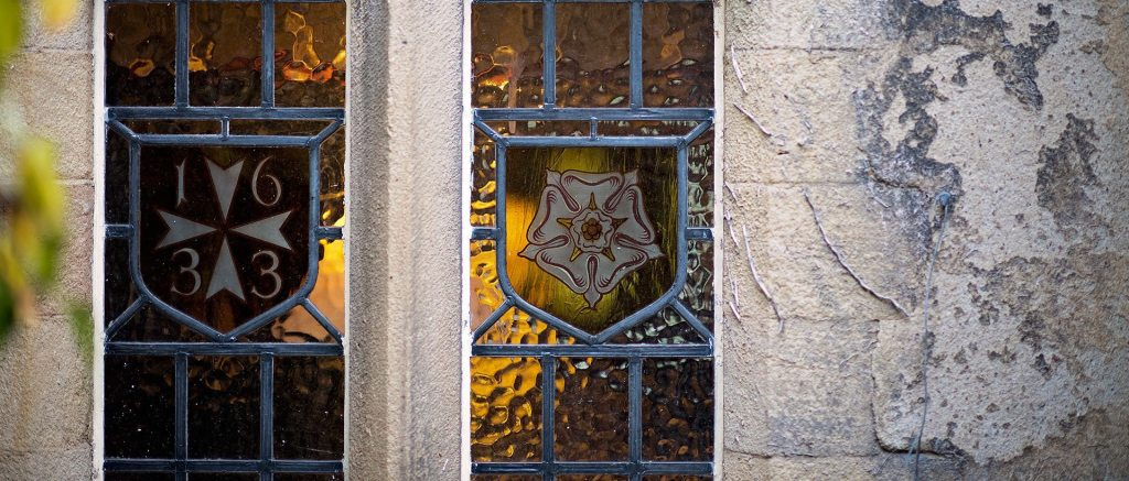 Holdsworth House stained glass windows