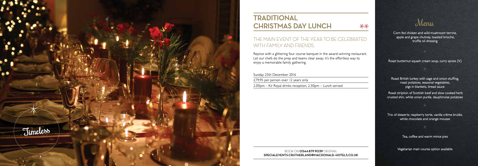 Macdonald Hotels Christmas brocure copy by Hey Marketing Huddersfield.